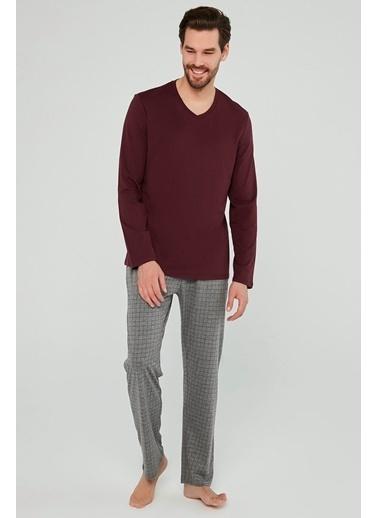 Penti Burgundy Pijama Takımı Kırmızı
